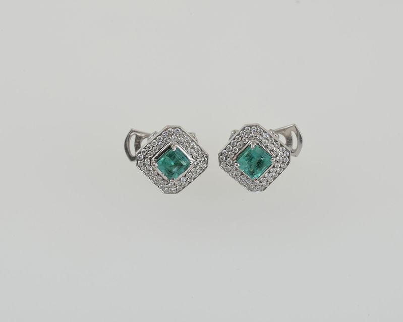 Aukčná spoločnosť SOGA spol. s r.o. - Diela Náušnice s diamantmi a ... d82ed5793bb
